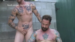 FTM Porn star Buck Angel gets fucked by Hot Tattooed Muscle Guy screenshot 5