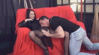 Shemale Fernanda getting her cock sucked by a stud screenshot 5